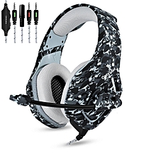 Gaming Headset for PS4 New Xbox one PC Mac Nintendo DS PSP ONIKUMA Over Ear 3.5mm Headphones with Mic Noise Isolating Deep Bass Surround for PUBG Game -Camouflage  BGB-A