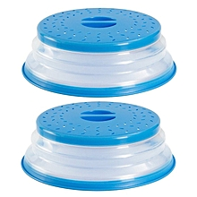 Collapsible Microwave Splatter Lid Food Cover Guard Kitchen Tool blue