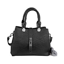 Elegant Pu Convertible Tote Bag - Black