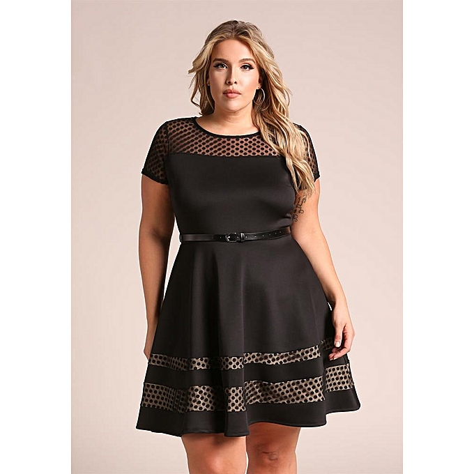 0aaec2561fe3 AFankara Plus Size Women Dresses - Black @ Best Price | Jumia Kenya