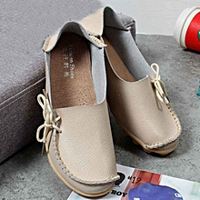 Xiuxingzi_New Women Leather Shoes Loafers Soft Leisure Flats Female Casual Shoes