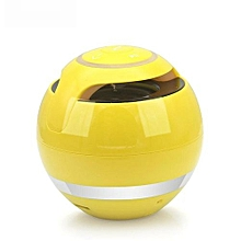 GS009 Bluetooth Mini Stereo Speaker Column Speaker Bluetooth Portable FM Radio MP3 Amplifer Loudspeaker(Yellow)