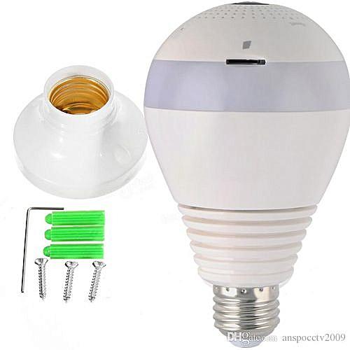 Wireless Bulb Camera IP 360 Degrees White Nanny Camera V380