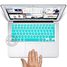 """13"""" Air Skin, EURO Type Danish Silicone Keyboard Cover For 2008-2015 Macbook 13.3"""" 15"""" Pro Reitna/Imac G6, Sky Blue"""