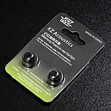 6pcs/3pairs In-Ear Earcaps For KZ Earphones Silicone Covers Cap Replacement black
