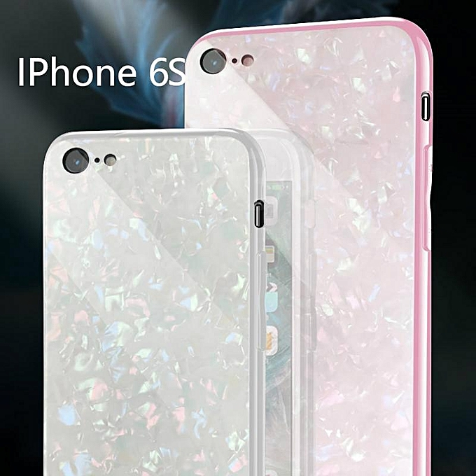b6d9776106d For IPhone 6S Luxury Hard Tempered Glass Case Marble Shell Pattern Design  Glass Back Cover For
