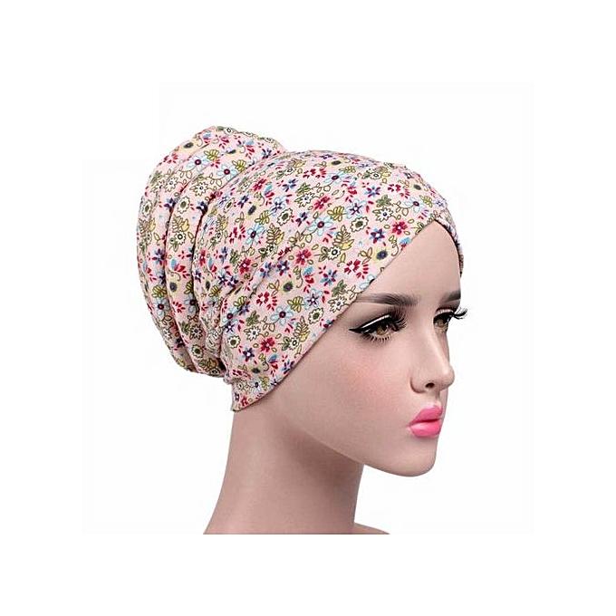 30f7aa3e41875 Eissely Women Cancer Chemo Hat Beanie Scarf Turban Head Wrap Cap ...