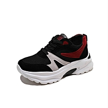 Flat Round Toes Women Sports Shoes Black