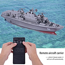 4CH Simulation Aircraft Carrier Model Remote Control RC Boat Naval Vessel Kids Toy (Grey + Red)