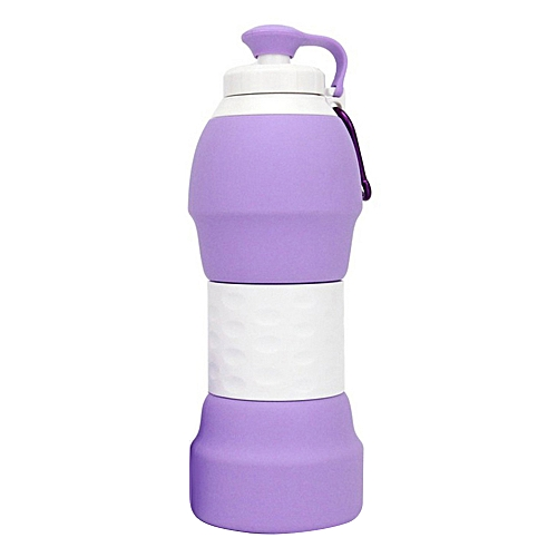580ml Portable Collapsible Cup Retractable Food-grade Silicone Foldable  Travel Water Bottle Outdoor Camping Sports Folding Cup