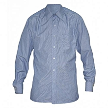 Blue Stripped Long Sleeved Mens Shirts