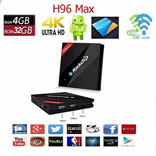 H96 max android tv box 7 1 rockchip rk3399   Where Buy