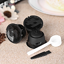 3pcs/set Coffee Capsule Dolce Gusto Coffee Filter Reusable Dolce Gusto Coffee Capsule with Spoon and Brush
