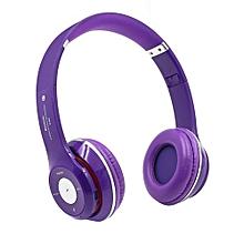 Headphone HandsFree Fashion Bluetooth Headset Bluetooth Sports Wireless Headphones S460 - Purple