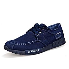 00a2fa8e4d0aa Canvas Men Shoes Denim Lace-Up Men Casual Shoes New 2017 Plimsolls  Breathable Male Footwear