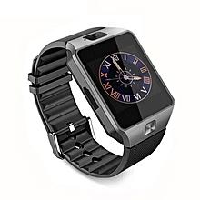 DZ09 Bluetooth Intelligent Wristwatch Phone Camera SIM TF GSM Multi Language black
