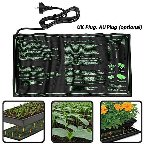 Seedling Heat Mat Hydroponic Seed Reptile Plant Heating Pad With Of Uk Au Plug