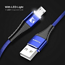 FLOVEME LED Light 2.1A Micro USB Fast Charing Data Cable 1M For Samsung S7 S6 Xiaomi Redmi Note 5 Blue / Red / Black