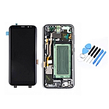 LCD Display Touch Screen Digitizer & Frame Replacement Assembly for Samsung S8 gray