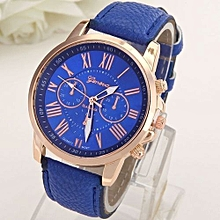 Liberty Powers Fashion Watches Leather Men Women Analog Quartz Wrist Watch-Blue