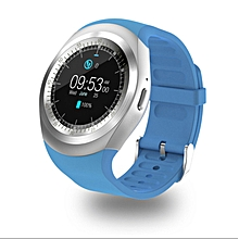 Touch Screen Bluetooth Music  Waterproof Smart Watch TF Smart Phone Blue Android4.4