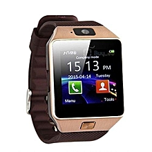 New Model B701 Touch Screen Smart Watch Phone - Brown