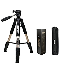 Zomei Q111 Professional Tripod Portable Pro Aluminium Tripod Accessories Camera Stand Gold