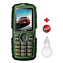 S23- 10000mAh Powerbank Phone - Black & Green plus USB Light