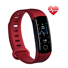 """R8C - 0.96"""" Smart Bracelet 80mAh Shaking Control Camera For Android IOS - Red"""