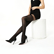 Fohting Sexy Womens Print Lingerie Lace Thigh Stockings Pantyhose -Black