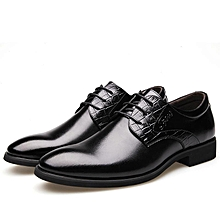 Men's Formal Dress Oxfords Leather Shoes Pointed Toe Business Casual Shoes-EU