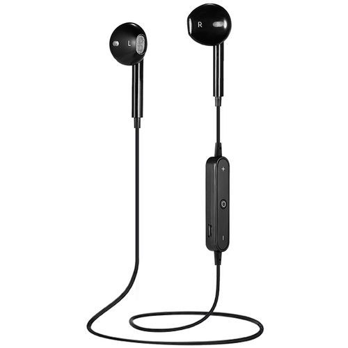 S6 Wireless Bluetooth Noise Reduction Sport Earbuds-BLACK