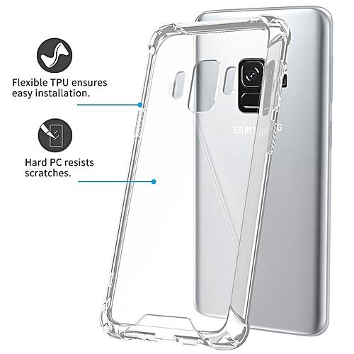 super popular 79d20 f364f Samsung Galaxy S8 Crystal Clear Case Shockproof TPU Edge - Rigid PC Hard  Back Cover