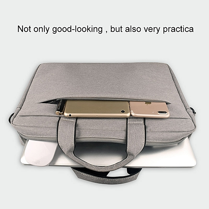 Breathable Wear-resistant Thin and Light Fashion Shoulder Handheld Zipper  Laptop Bag with Shoulder Strap, For 15 6 inch and Belowbook, Samsung,