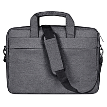 Breathable Wear-resistant Thin and Light Fashion Shoulder Handheld Zipper Laptop Bag with Shoulder Strap, For 13.3 inch and Belowbook, Samsung, Lenovo, Sony, DELL Alienware, CHUWI, ASUS, HP(Dark Grey)