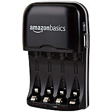 AmazonBasics Ni-MH AA & AAA Battery Charger With USB Port