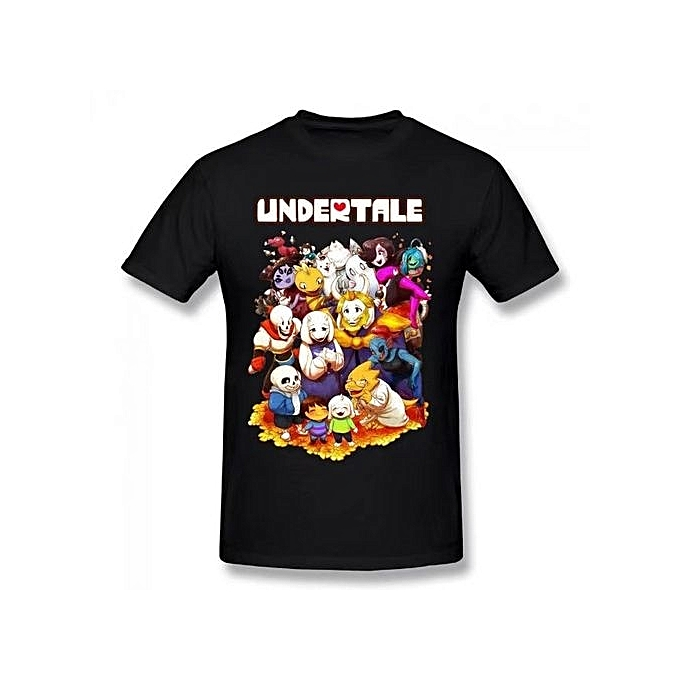 0d2b834102e Undertale Character Summer Basic Casual Short Cotton T-Shirt(Regular And Big  And Tall