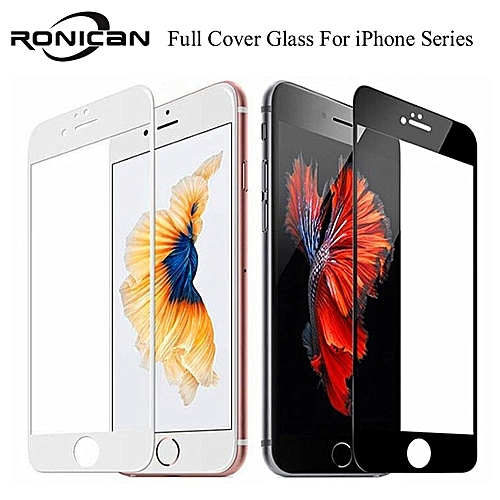 the best attitude e4d64 b3de5 9H Full Coverage Cover Tempered Glass For iPhone 6 6s Plus Screen Protector  Protective Film For iPhone 7 8 Plus X XS 5 5s 5c SE(Color White) GTI
