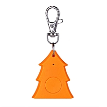 Mini Christmas Tree Shape Smart Tag Bluetooth 4.0 Wallet Key Keychain Finder-orange