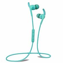 Headphones, H2 Waterproof Wireless Running Gym Exercise In-ear Earphone Real High Quality Bluetooth Headphone(Blue)