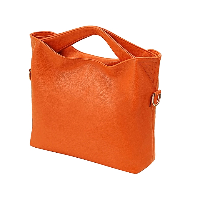 Africanmall Women Leather Handbags Jy20 Orange