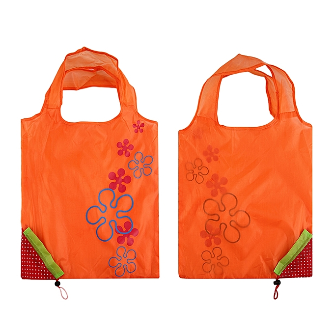 a09cd4d0904 1 Pc Strawberry Foldable Shopping Bag Tote Reusable Eco Friendly Grocery Bag -Orange