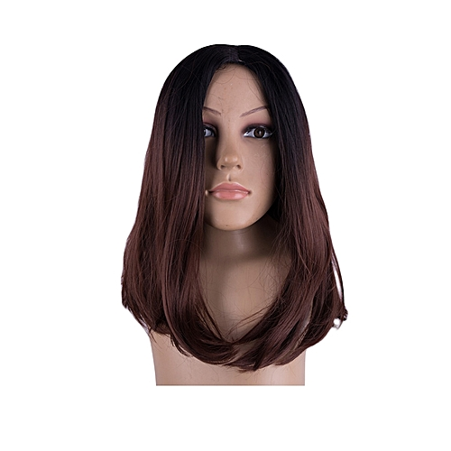 Wig Soft Hair Extension Synthetic Headwear Women Hair Accessory long  -Coffee brown 70c772f93