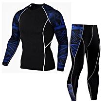 Man Workout Leggings Fitness Sports Gym Running Yoga Athletic Pants+Shirt Suit