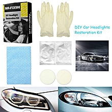 MR-FIX9H DIY Headlight Lens Scratch Restoration Kit Polish Car Truck Cleaning