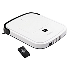 iiutec R-Cruiser Ultra Slim Vacuum Cleaner Household Cleaning Robot with Remote Control(White)
