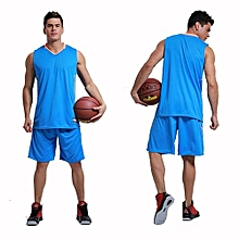 Men's Customized Team Basketball Sport Jersey Shirts And Shorts Set-Blue(MB-2888)