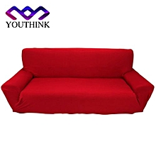 3 Seater Polyester Pure Colour Protect Slipcovers Burgundy