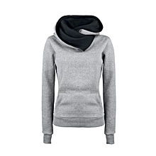 New ladies new explosion models Europe and the United States hot autumn lapels pullover sweater women long sleeves-grey