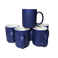 Ceramic Coffee Tea Drinking Mug Set of 6 - Blue & White